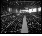 Hec Edmundson Pavilion interior during President John F. Kennedy's speech at University of...