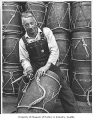 Halibut fisherman, Seattle, 1956