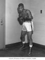 Boxer Bobby Hicks, possibly in Seattle, 1958