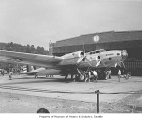 Boeing Model 299 (XB-17) bomber at Boeing factory, Seattle, 1935