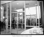 People waiting enter new Seattle Public Library, Seattle, 1960