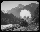 Great Northern locomotive in Cascade Mountains, n.d.