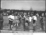Children in wading pool at Lincoln Park, Seattle, ca. 1911