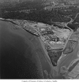 Aerial of sewage treatment plant at West Point, Seattle, 1964