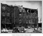 Earthquake damage to Bemis Bag Co. building, Seattle, 1949
