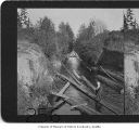 Logs in Montlake canal, Seattle, 1908