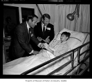 Mickey Mantle and Jim Piersall at Children's Orthopedic Hospital, Seattle, ca. 1966
