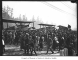 Crowds around world's flight planes, Seattle, September 28, 1924