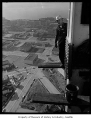 Ironworker Ray Lind on the Space Needle, Seattle, October 1961