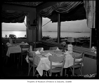 Crawford's Sea Grill  interior showing view from windowside tables, Seattle, October 25, 1958