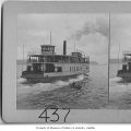 Ferry and rowboat, Seattle, 1908