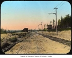 Rail route to Meadows Racetrack, Seattle, ca. 1905