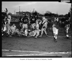 Cleveland versus West Seattle high school football game, Seattle, 1955