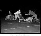 Ballard versus Franklin High School football game in Seattle, 1958