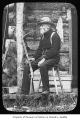 David T. Denny at Lake Keechelus cabin, 1899