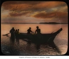 Group canoeing at sunset, n.d.