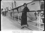 Woman on deck of S.S. Tacoma, ca. 1924