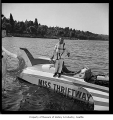 Miss Thriftway hydroplane at Seafair race with Bill Muncey, Seattle, 1960