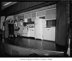 Demonstration of Kelvinator kitchen appliances, Seattle, 1949