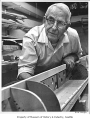 George Pocock, rowing shell builder, Seattle, 1959