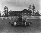 Man mowing lawn at Seattle Golf Club,  The Highlands, ca. 1922