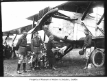 Pilots with world's flight plane, Seattle, 1924