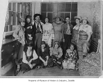 Bemis Bag Co. employees in costumes, Seattle, February 1923