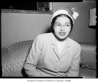 Rosa Parks of the N.A.A.C.P., probably in Seattle, 1956