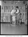 Children with books at Burien Public Library, Burien, 1961