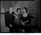 Emil Sick with his wife and a girl, possibly in Seattle, 1955