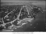Aerial of Madison Park neighborhood from south, Seattle, August 16, 1936