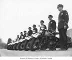 Seattle Police Department motorcycle corps, Seattle, 1941