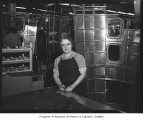 Worker inside Kenworth plant, Seattle, June 15, 1944
