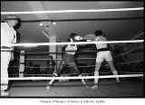 Amateur boxers in match, Seattle, November 1, 1986