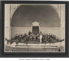 Cavanaugh's City Band in Volunteer Park bandshell, Seattle, ca. 1905