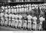 Seattle Pilots opening day at Sick's Stadium, Seattle, April 1969