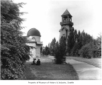 University of Washington observatory and chimes tower, Seattle, ca. 1913