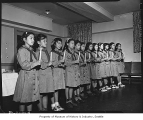 Chinese-American Girl Scout troop, Seattle, 1947