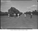 Mixed doubles tournament at Broadmoor Golf Club, Seattle, 1946