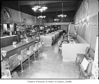 Green Apple Pie shop interior, with a view of the counter, 521 Pike Street, Seattle, n.d.