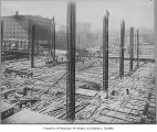 Oregon-Washington Station under construction, Seattle, ca. 1910
