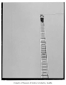 Fire department applicant on ladder, probably in Seattle, September 1, 1986