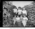 Group with harvested beans at Leber family farm, 1951