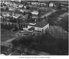 Aerial of Museum of History & Industry from southeast, Seattle, ca. 1952