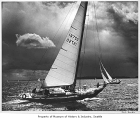 Sailboat race off Vashon Island, May 1972