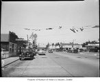 North Bend business district, North Bend, 1949