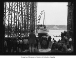 Launching of yacht Commodore, Seattle, May 27, 1926