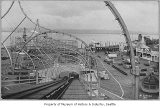 View down the Shoots at Luna Park, Seattle, ca. 1910