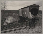 Covered railroad bridge, near Allentown, n.d.