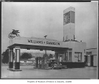 Williams & Swanson gas station, Renton, 1945